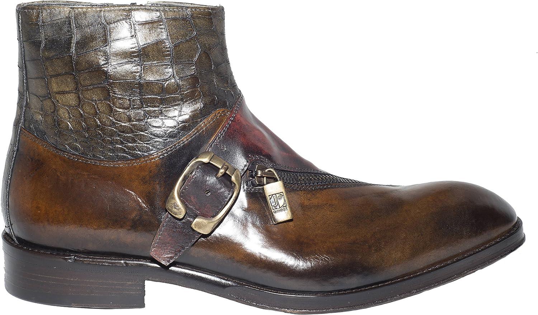 Details about  /New Vintage Mens Shoes Black Croc Leather Moc Toe 10M Friedman's Shoes ITALY