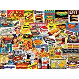 White Mountain Puzzles Burgers & Dogs - 1000 Piece Jigsaw Puzzle