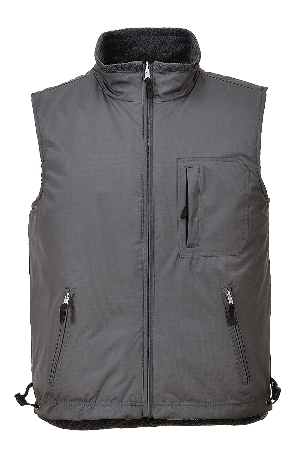 Portwest S418 - Reversibles Bodywarmer RS, color Gris, talla Small