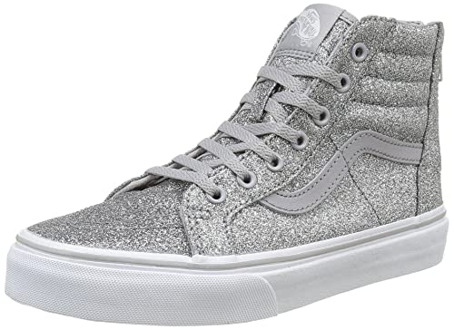 Vans Kids Girls Sk8-Hi Zip (Little Big Kid), (Shimmer