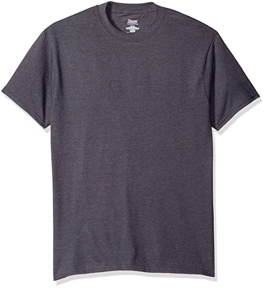 Hanes Men's Short Sleeve Beefy-T, Smoke Gray, ...