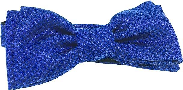 Pajarita HUGO de pura Seda Jacquard tonos azul marino y celeste ...