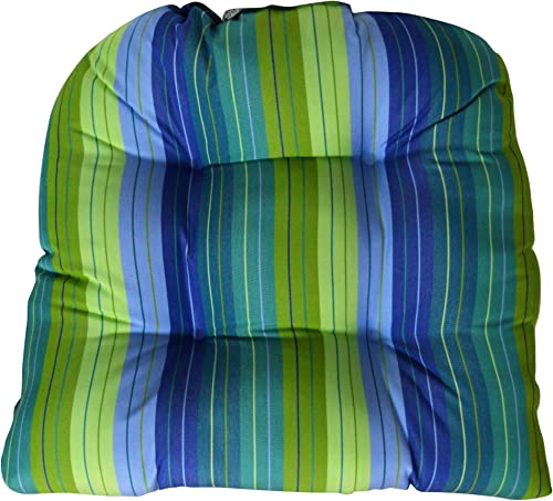 Sunbrella Seville Seaside Large Wicker Chair Cushion