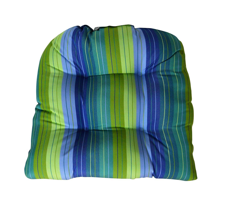Amazon.com: Sunbrella Sevilla Seaside silla de mimbre cojín ...