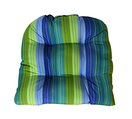 Amazon Com Rsh Decor Sunbrella Seville Seaside Large Wicker Chair
