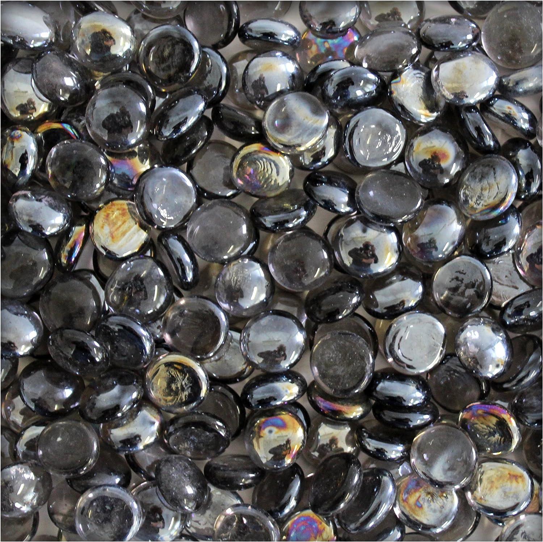 Bunt 1 kg verschiedene Farben Kiesk/önig Flache Glaskugeln