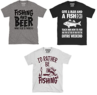 f93d3d4d 6TN Triple Pack of Mens Fishing/Angling Themed T-Shirts: Amazon.co.uk:  Clothing