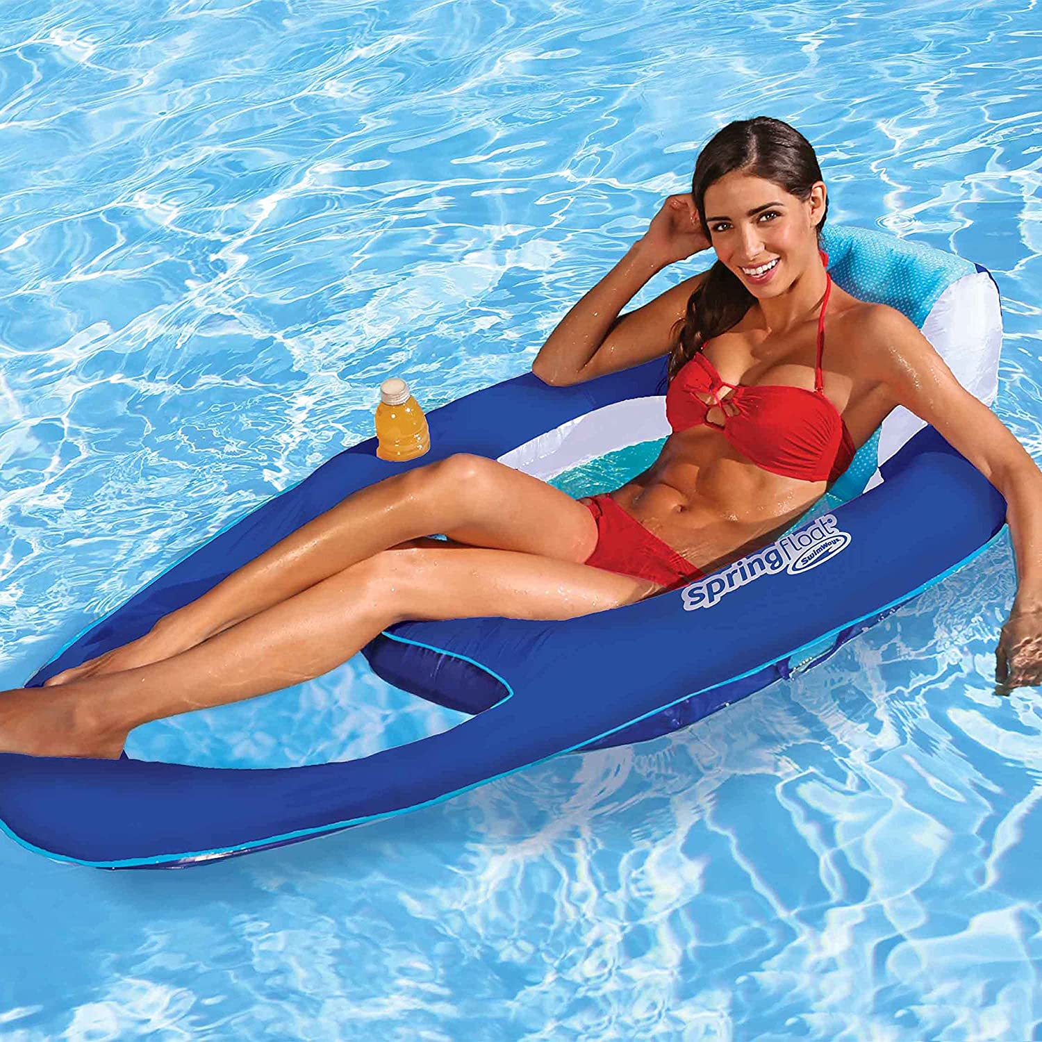 Extra Large Swim Lounger for Pool or Lake SwimWays Spring Float Recliner XL