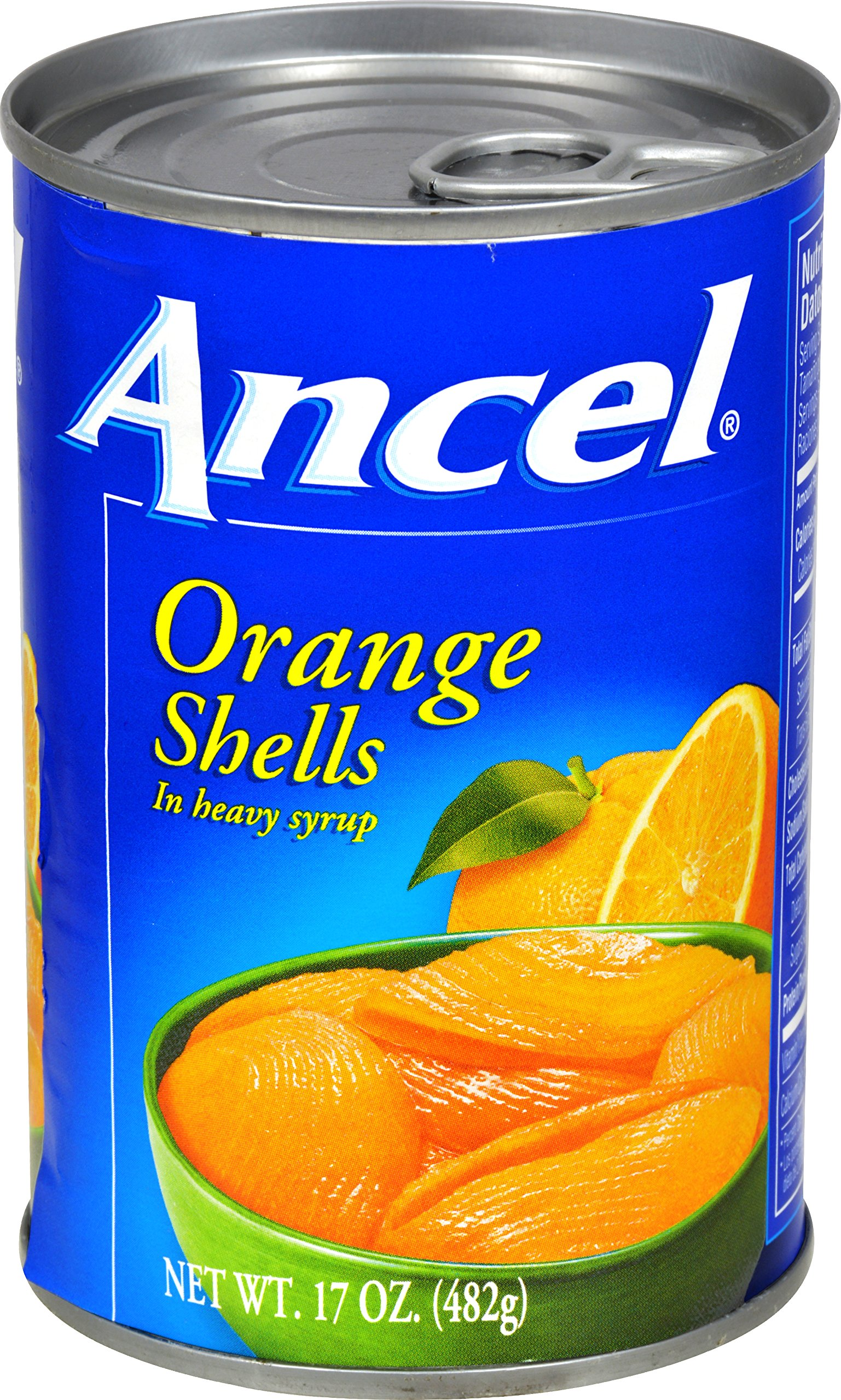 Ancel Orange Shells In Heavy Syrup, 17 Ounce (Pack of 24) by Ancel