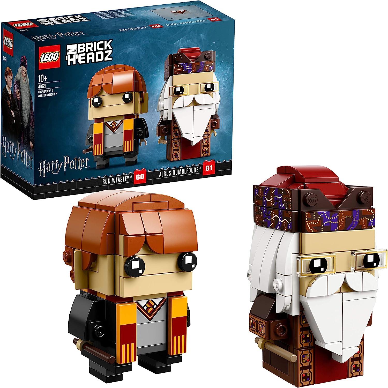 Lego Brickheadz 41621 Set De Construcción Ron Weasley Y Albus Dumbledore, Multicolor