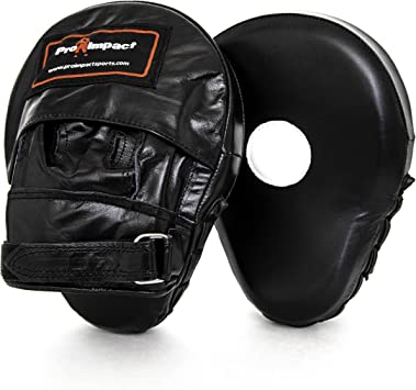 Genuine Leather Focus Mitts Boxing MMA Punching Pads Shock Absorbent Training Hand Pads