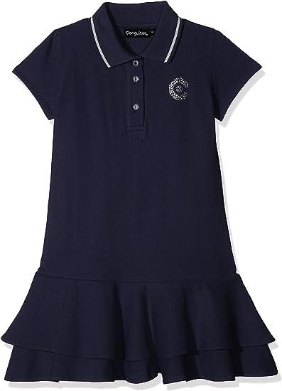 Conguitos Vestido Polo Niña, Azul (Marino), 116 (Tamaño del ...