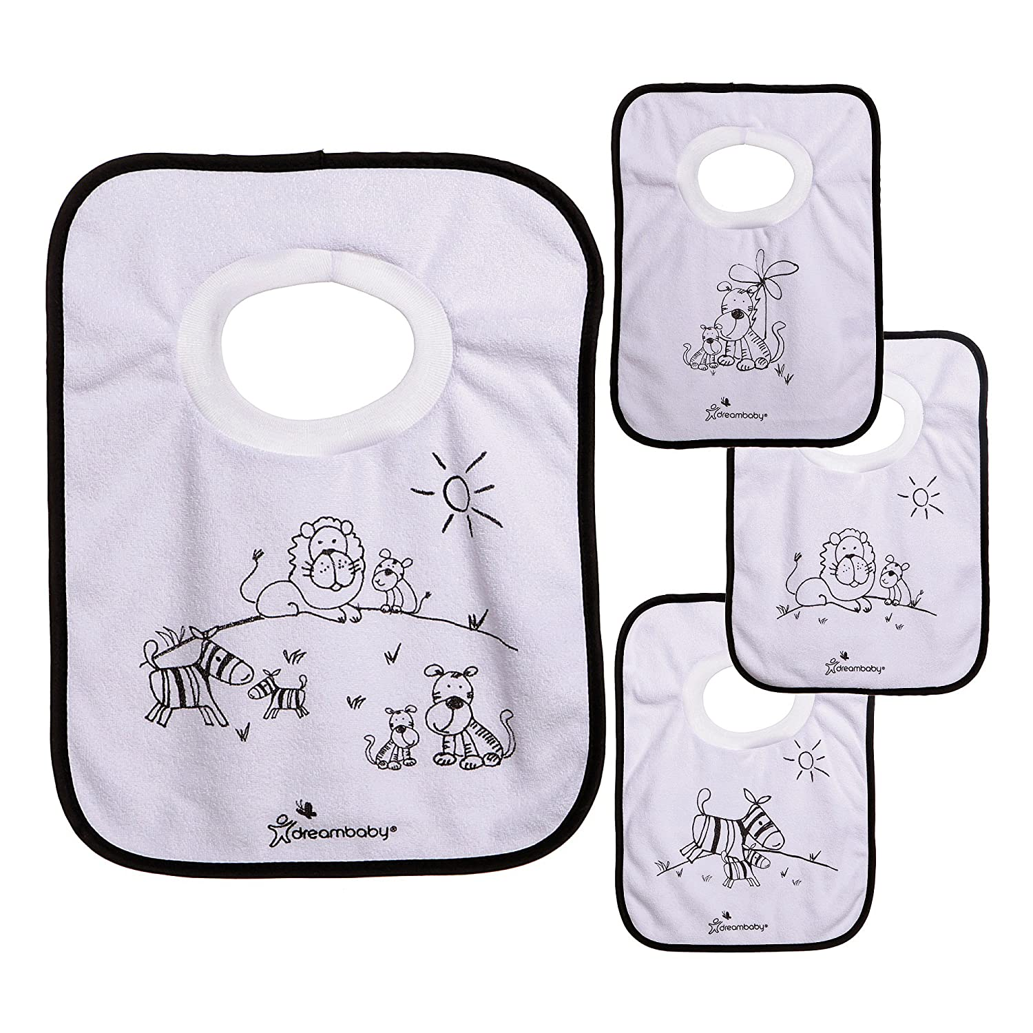 Dreambaby Pullover Bibs,Owls and Whales, 4-Count L536