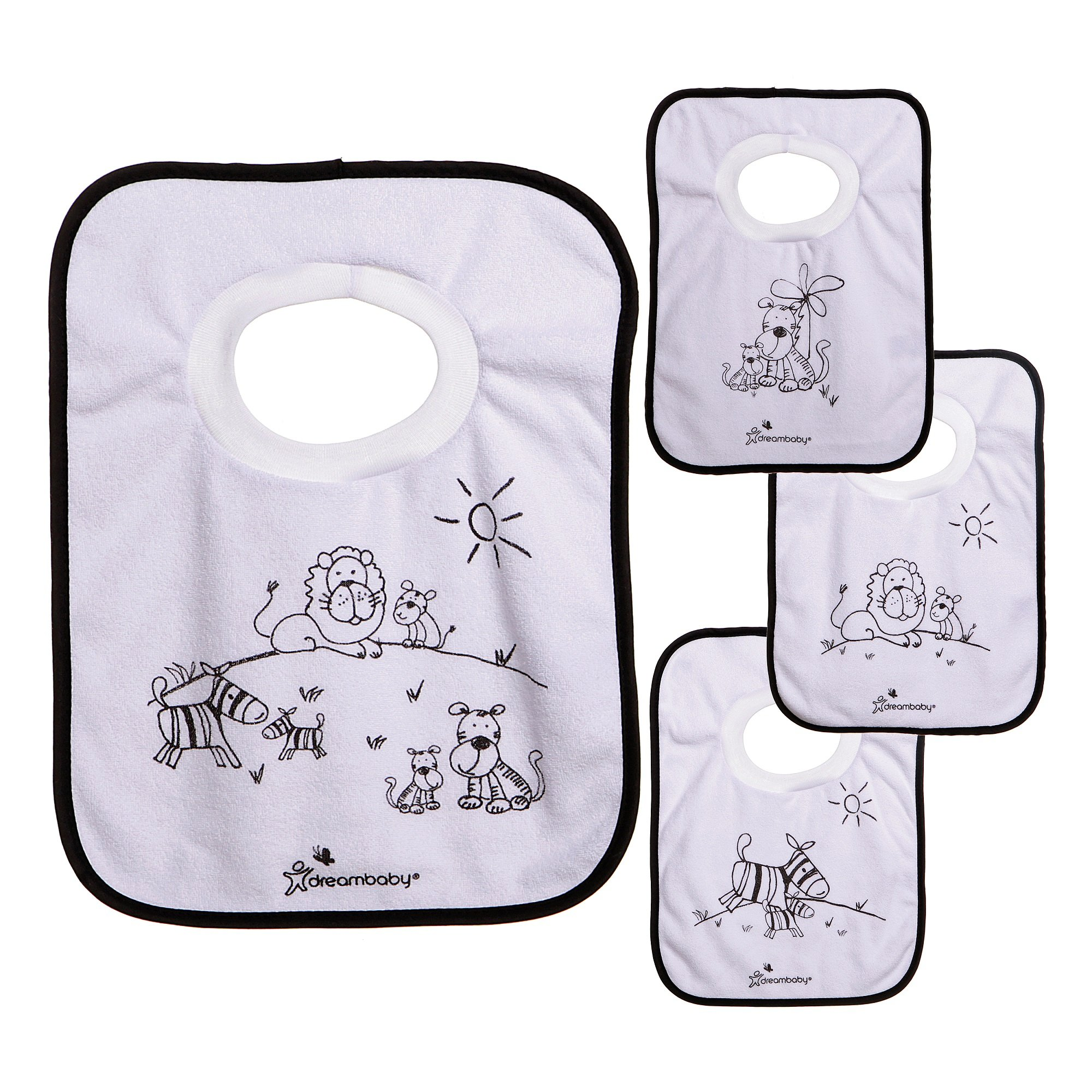 Dreambaby Pullover Bibs, 4 Count