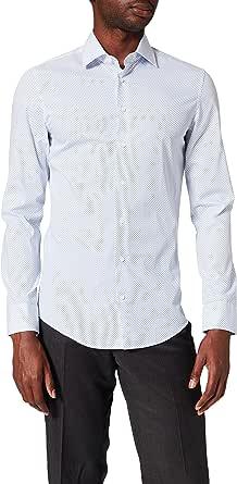 Seidensticker Slim Langarm Mit Kent Kragen Soft Gepunktet Camisa para Hombre
