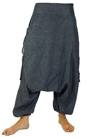 Guru-Shop Jeans Goahose Pluderhose Pumphose Aladinhose, Damen, Blau,  Baumwolle, Size S(38), Pluderhosen, Aladinhosen Alternative Bekleidung   Amazon.de  ... 91a9621f94