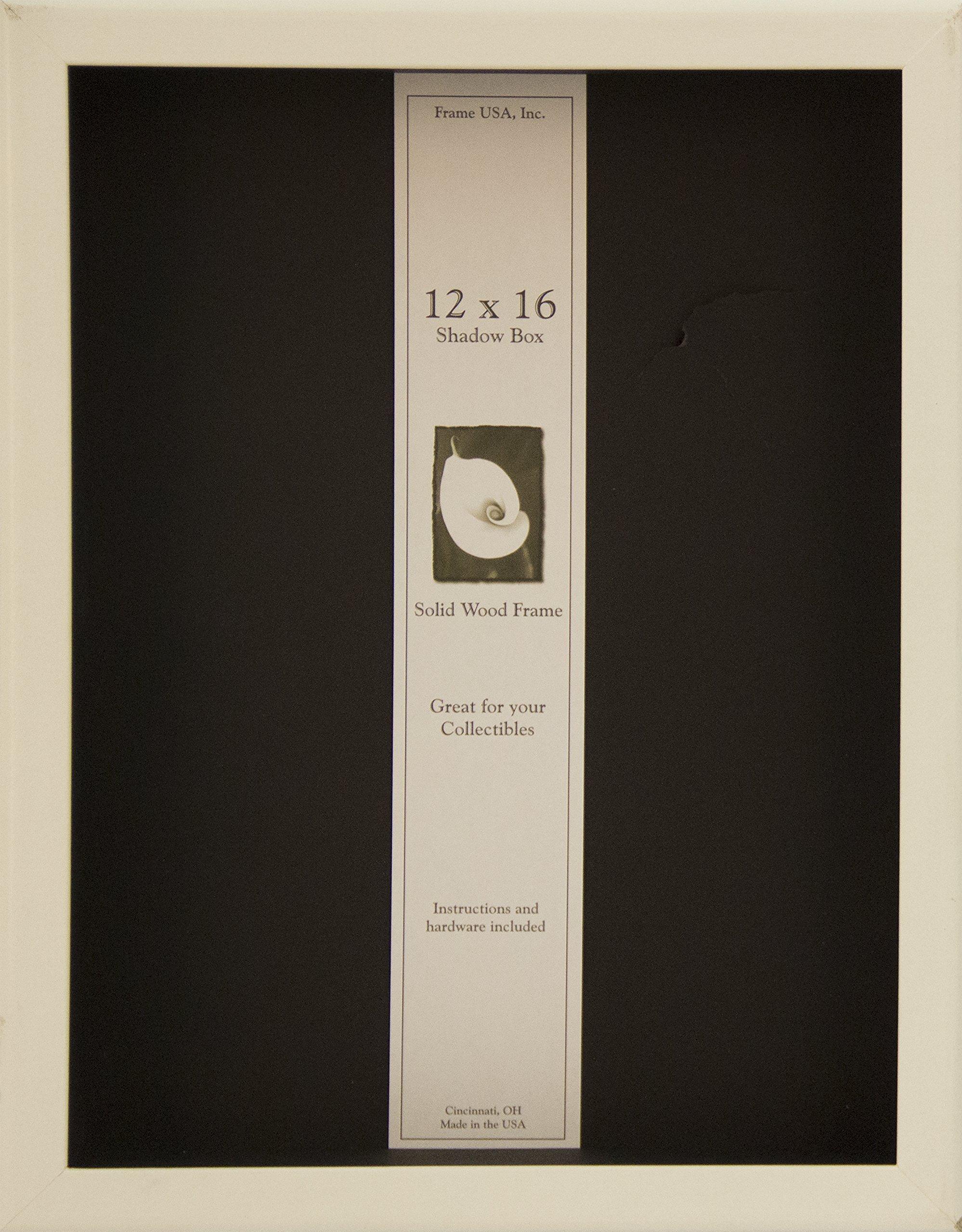 12x16 Shadow Box Wood Frame 2 1/8'' Deep (White)