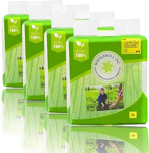 WHOLEROLL papel higiénico orgánico, pañuelo de baño, suave para ...
