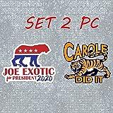 Set 2 PC Joe Exotic Stickers Carole Baskin Tiger King Stickers for Car