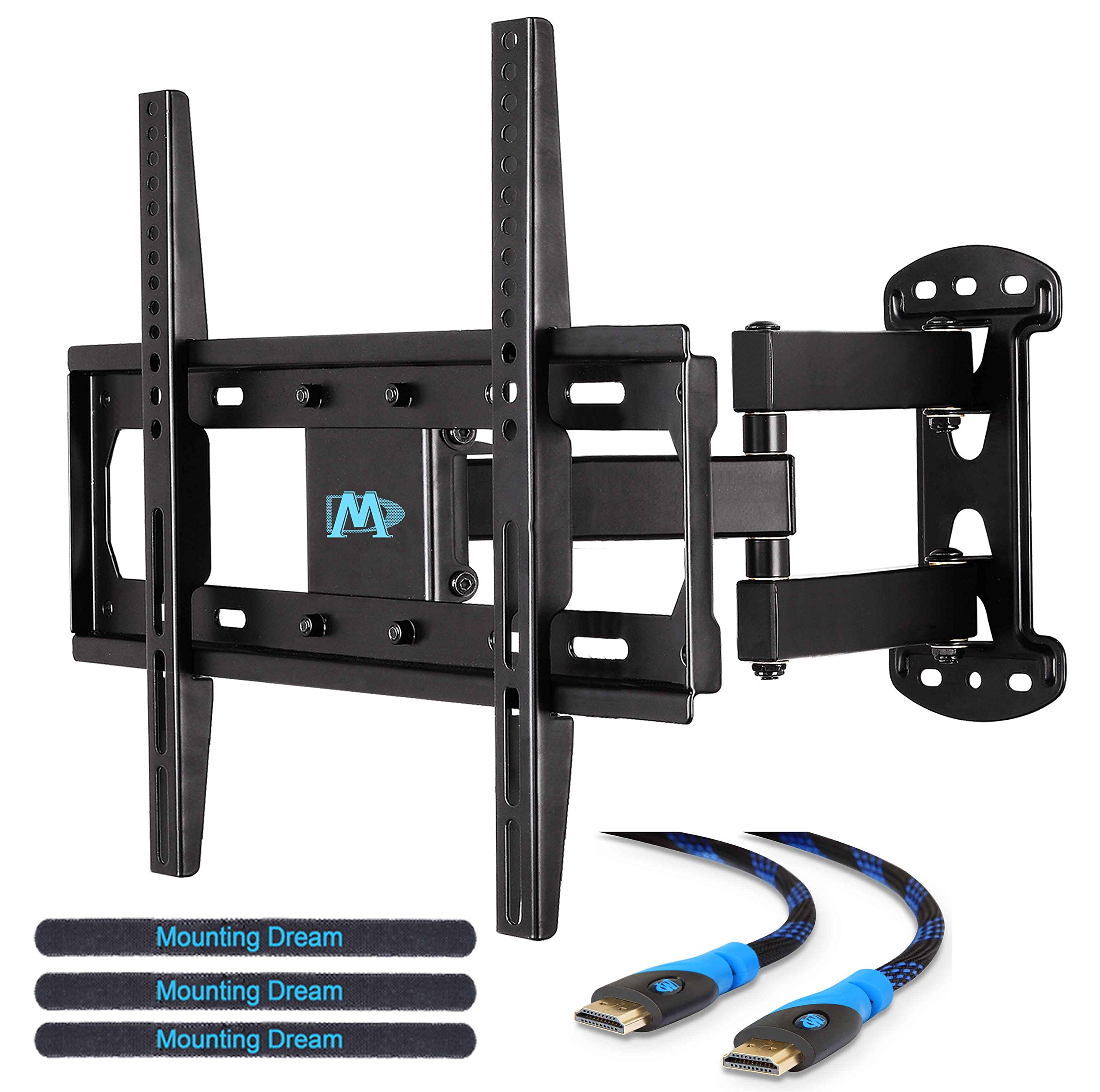 mounting dream md2377 tv wall mount bracket with full motion articulating arm ebay. Black Bedroom Furniture Sets. Home Design Ideas