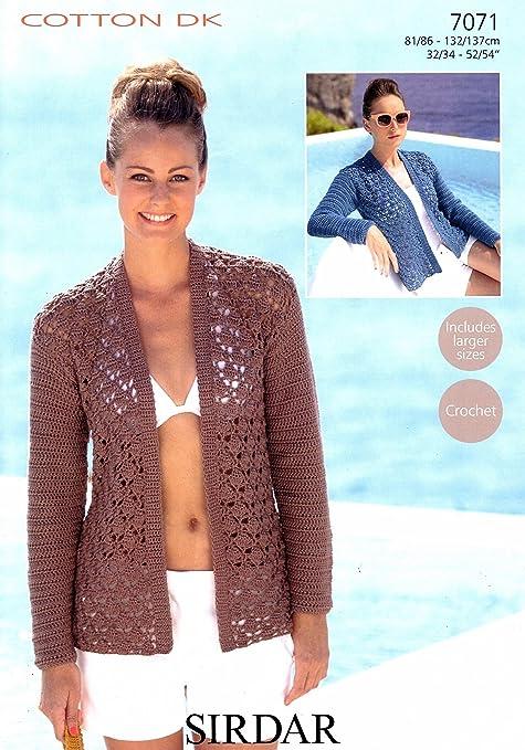 efad9d9c0dd1 Sirdar Cotton DK Crochet Pattern 7071