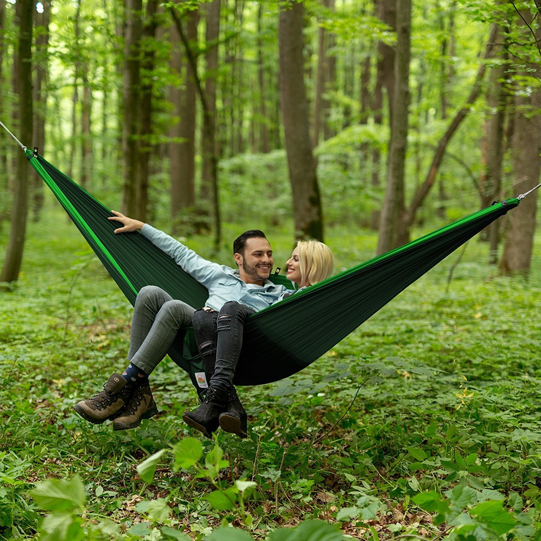 Color Verde 140cm 300kg Capacidad de Carga Ultra Ligera Nyl/ón de Paraca/ída Port/átil y Transpirable,Ideal para Viaje Jard/ín Eastshining Hamaca Colgante 270 Camping