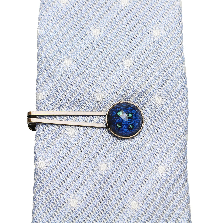 TAMARUSAN Necktie Pin Tie Bar Tie Pin Tie Pin Blue Simple Handmade