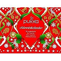 Pukka Tee Adventskalender, für die Weihnachtszeit mit Bio-Tee nach Ayurveda Tradition 24 Teebeutel