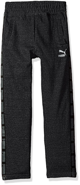 PUMA Big Boy's Boys' Tapered Pant Pants, Black Heather, Large 91173225FAZ-P005
