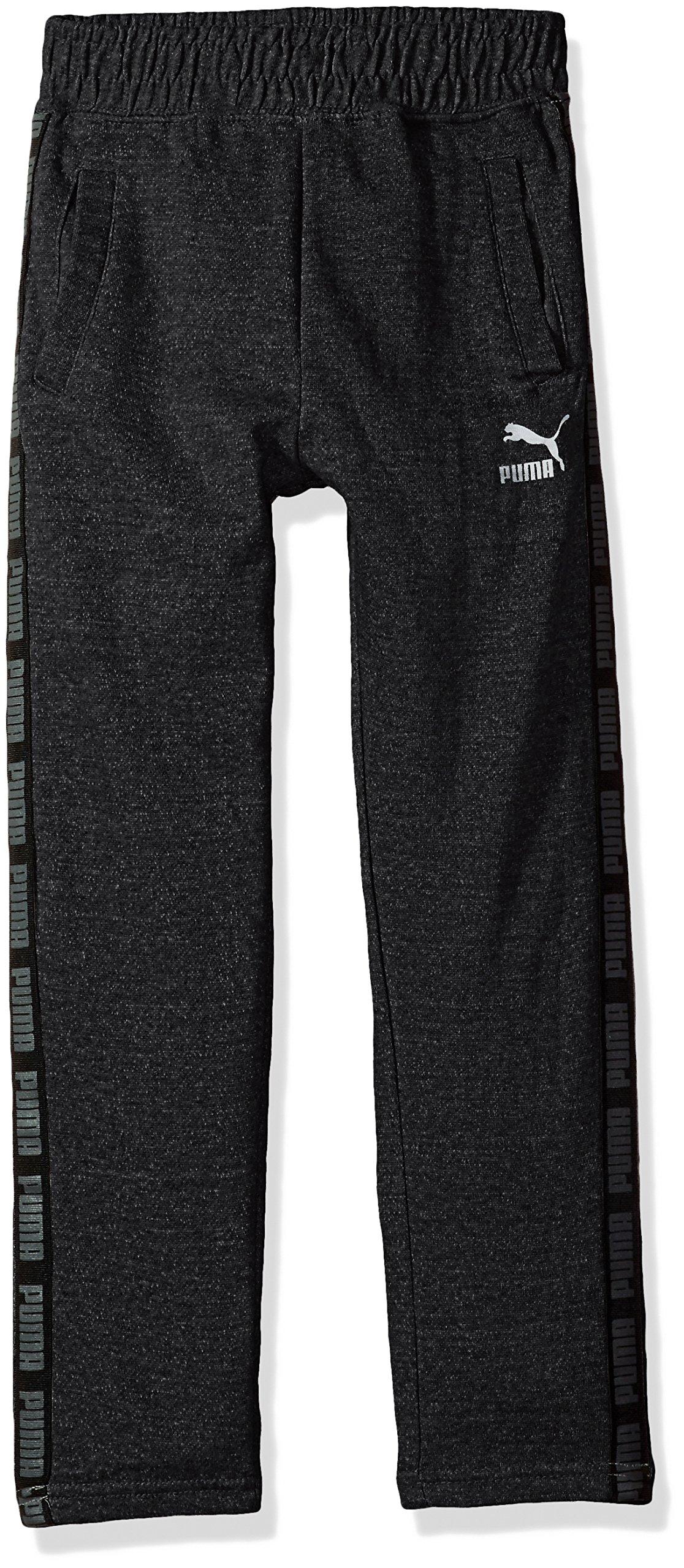 PUMA Big Boys' Tapered Pant, Black Heather, Medium (10/12)