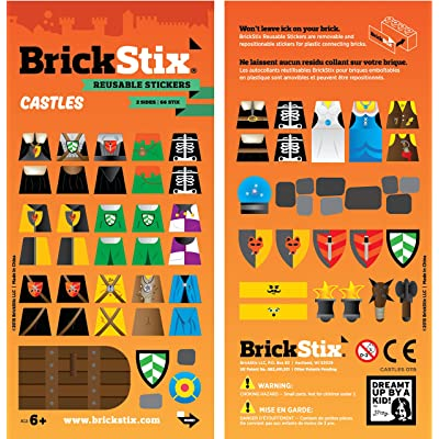 BrickStix Castles Reusable Stickers: Toys & Games
