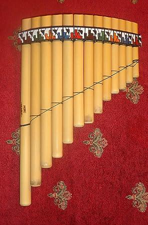 Profesional juego de flauta de pan, Antara, con 13 tubos Caso Incluido
