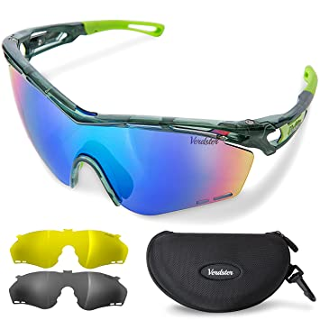 9a312075021fe0 Verdster TourDePro Polarised Sports Cycling Sunglasses For Men and Women -  3 Interchangeable Lenses - UV