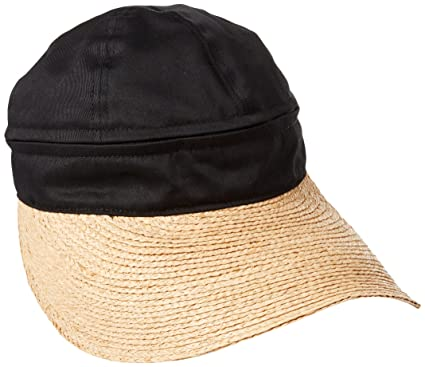 864fa7ad Gottex Women's Regatta Zip Off Crown Convertible Sun Cap with Large Peak  Visor, Black,
