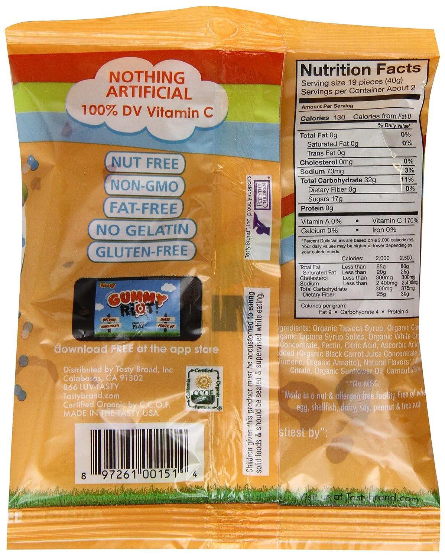 Tasty marca Organic Fruit Snacks, Smoothie, 2.75-ounce ...