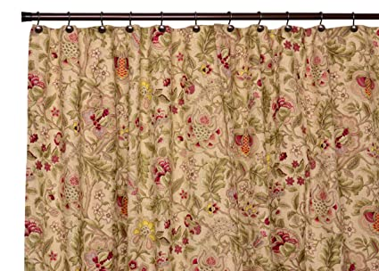 Amazon Imperial Dress Jacobean Floral Bathroom Shower Curtain