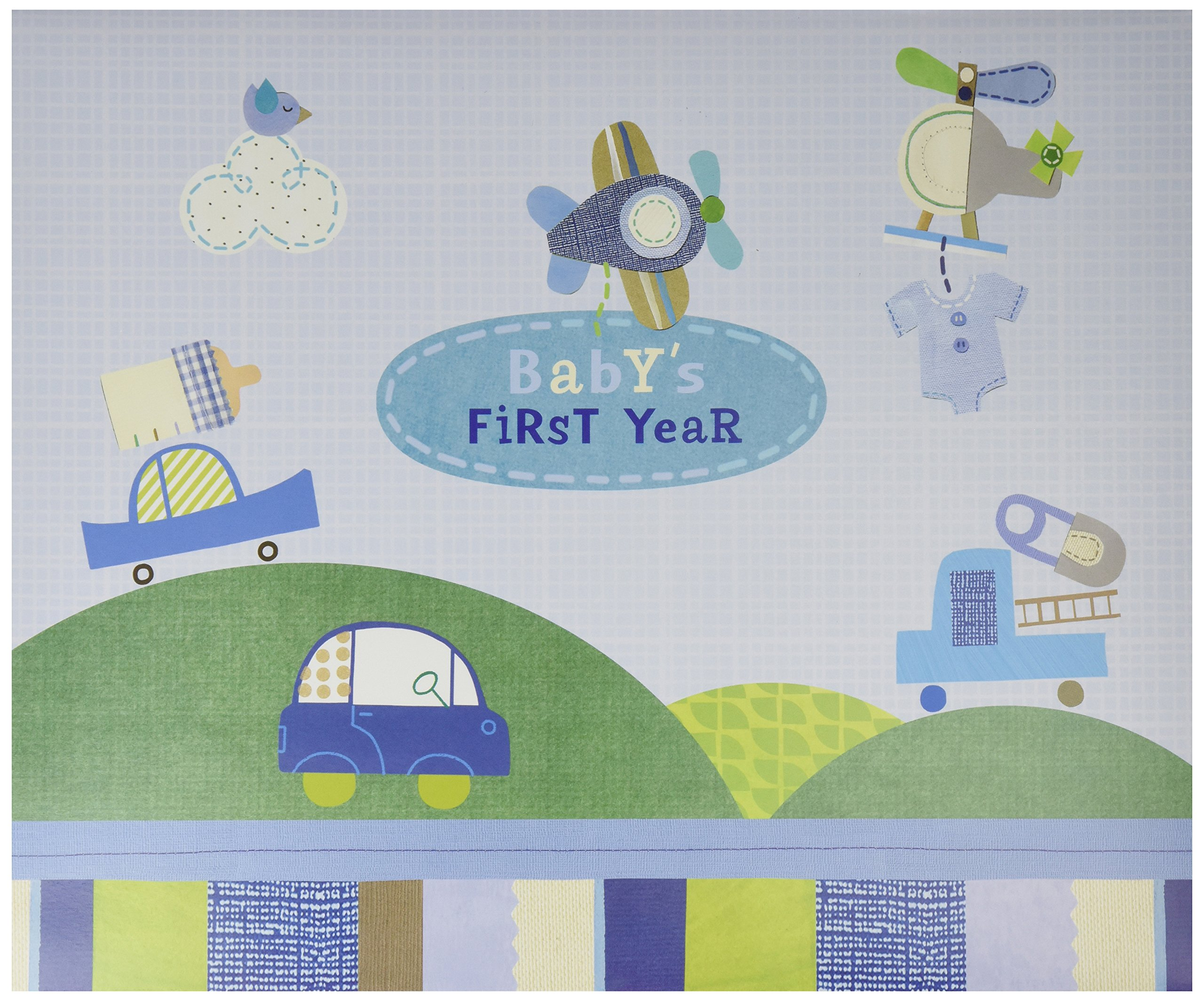 C.R. Gibson Baby's First Year Calendar, By Jill McDonald, Stickers Provided, Measures 11 x 18'' - Boy Oh Boy