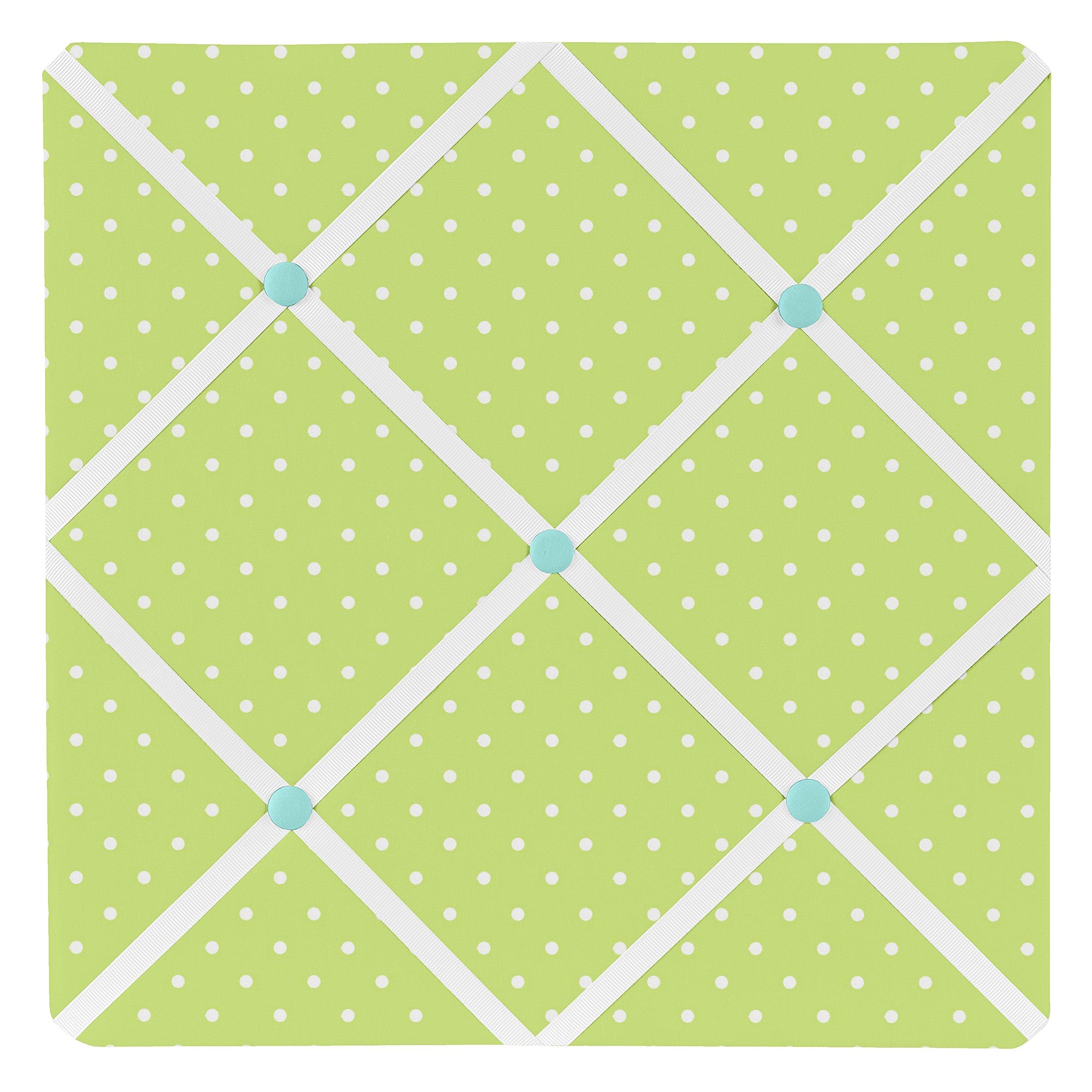 Sweet Jojo Designs Turquoise and Lime Hooty Owl Fabric Memory/Memo Photo Bulletin Board