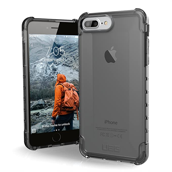 online store 7da1e 177c4 UAG iPhone 8 Plus/iPhone 7 Plus/iPhone 6s Plus [5.5-inch Screen] Plyo  Feather-Light Rugged [ASH] Military Drop Tested iPhone Case