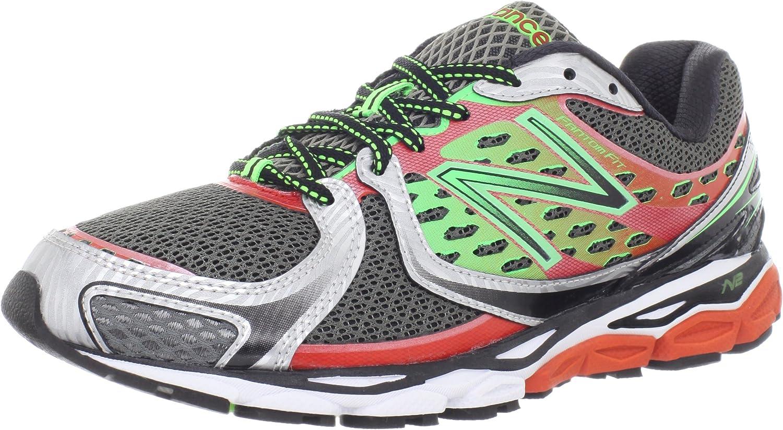 New Balance M1080 - Zapatillas de Running, Color Red with Green, Color 7.5 UK - Width D: Amazon.es: Zapatos y complementos
