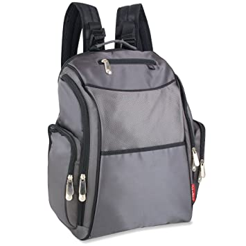 50ffdba463e Amazon.com   Fisher Price Backpack Diaper Bag - Fastfinder Grey   Diaper  Tote Bags   Baby
