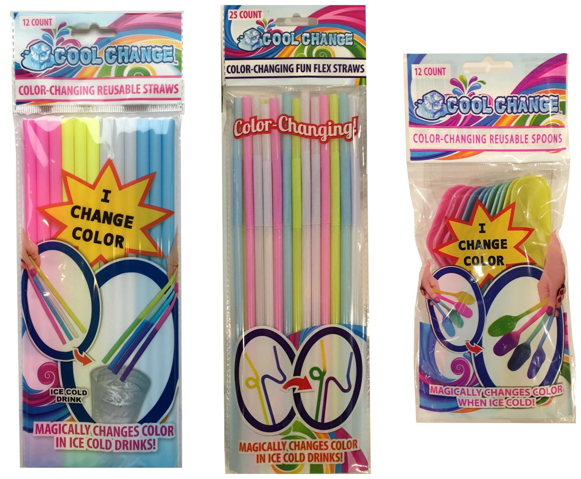 Cool Change Color Change Straws and Spoons Fun Everyday Theme by Cool Change