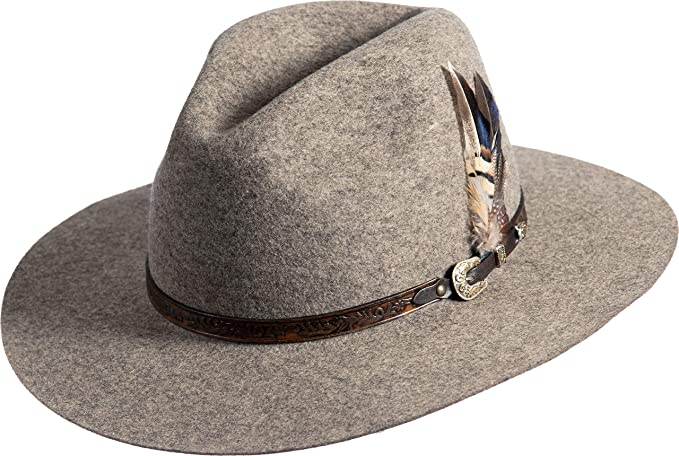 322d97cbf02 Image Unavailable. Image not available for. Color  Overland Sheepskin Co Messenger  Bolivian Wool Felt Outback Hat