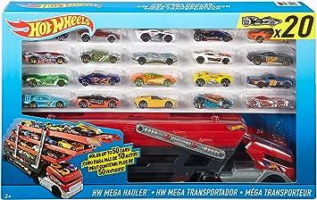 Hot Wheels Mega City set de transportador mas 20 coches / Vehículos: Amazon.es: Juguetes y juegos