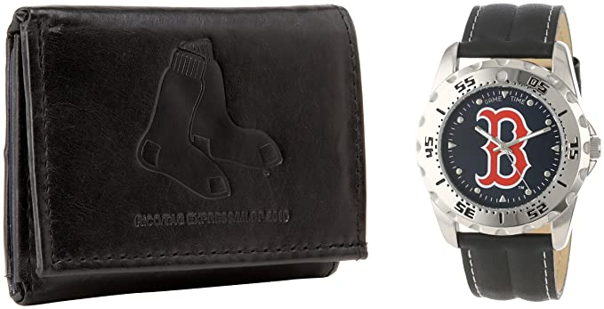 Amazon.com  Game Time Men s Watch and Wallet Set-Boston Red Sox ... 124abe030