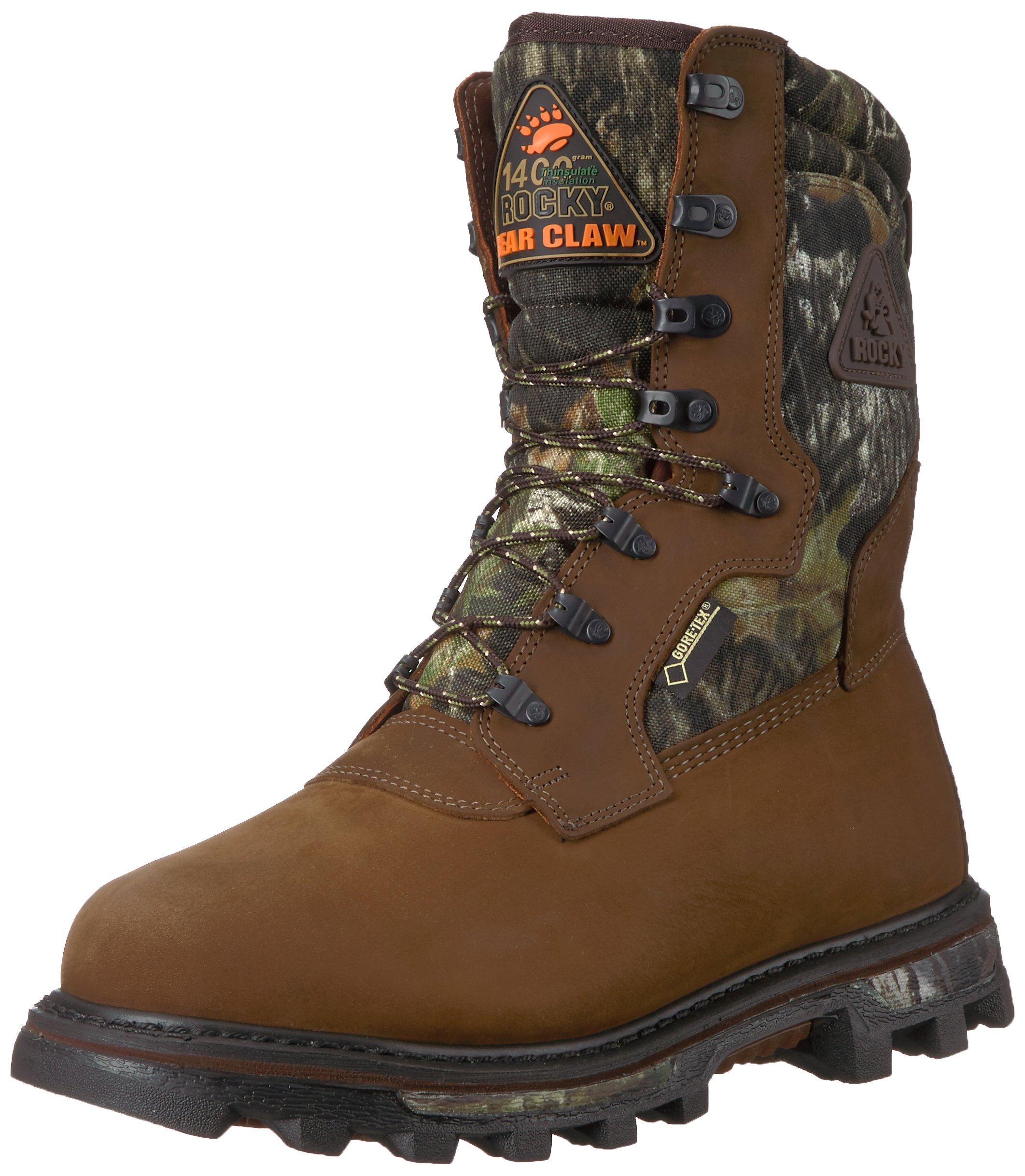 Rocky Men's FQ0009455 Mid Calf Boot, Mossy Oak Break up Camoflauge, 8 W US by Rocky
