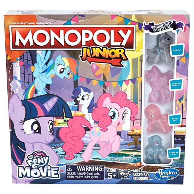 Amazon.com: Monopoly Junior My Little Pony Amistad es magia ...