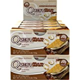 Quest Nutrition Protein Bar S'Mores. Low Carb Meal Replacement Bar w/ 20g+ Protein. High Fiber, Soy-Free, Gluten-Free (24 Count)