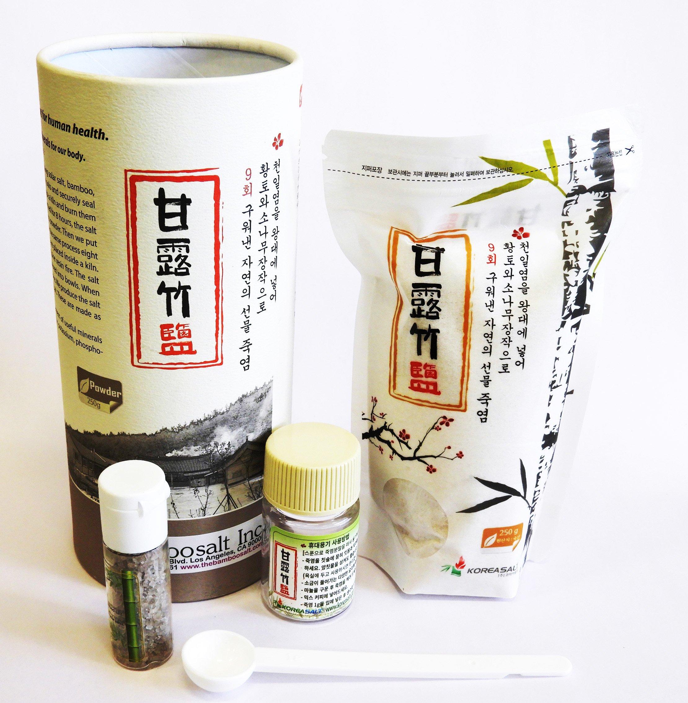 Original Bamboo Salt 9-Times Roasted 250 Gram (8.8 Ounce) Powder Rich Minerals