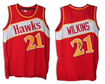 be12bf7c221 ... coupon code for dominique wilkins atlanta hawks autographed red jersey  inscribed quothof 06quot autographed autographed 575c8